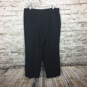 Talbots black linen wide leg pants